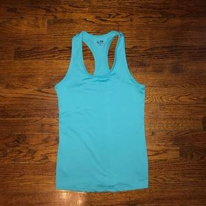 Champion teal racerback tank size small